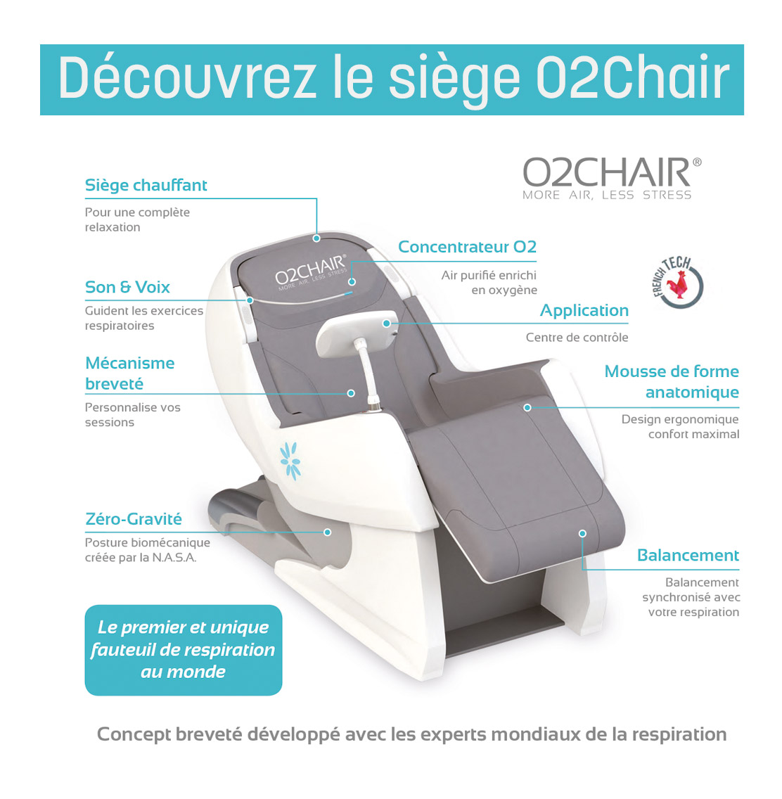 o2 chair détente garantie sur paris